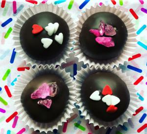 Valentine's Day, chocolate, truffles, love, red
