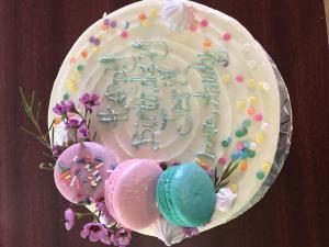 Buttercream Birthday Cake Macarons Gluten Free Sprinkles