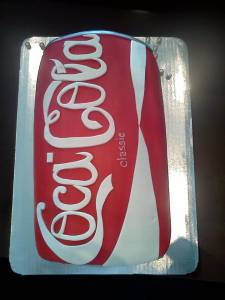 Coca Cola cake, shaped cake, fondant cake, birthday cake, custom cake, denver, colorado