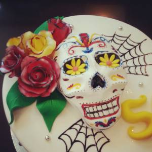 Dias Los muertes cake, custom cake, skeleton, birthday cake, custom cake, buttercream cake, shaped cake, denver, colorado