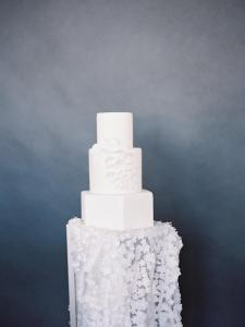 White cake, 3 tier, fondant, buttercream, custom