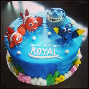 Finding Nemo, Disney, custom cake, birthday cake, fondant cake, Dora, denver colorado