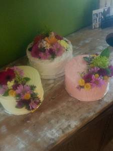Buttercream cake, fresh flowers cake, floral cake, birthday cake, anniversary cake denver colorado