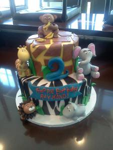 Kids cake, baby shower, custom cake, fondant cake, zebra, giraffe, cheetah, leopard, elephant, lion, zoo, denver, colorado