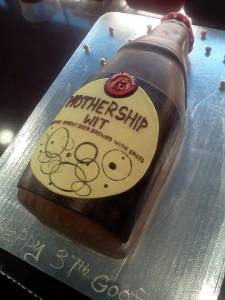 Beer, denver, colorado, shaped cake, custom cake, beer cake, grooms cake, birthday cake, mothership wit