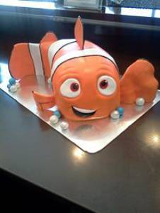 Finding Nemo, kids cake, custom cake, birthday cake, fondant cake, shaped cake, denver, colorado