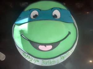 Teenage Mutant Ninja Turtles, cartoon cake, custom cake, birthday cake, denver, colorado, fondant cake, kids cake