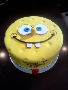 Spongebob Square Pants, cartoon cake, kids cake, birthday cake, custom cake, fondant cake, denver colorado