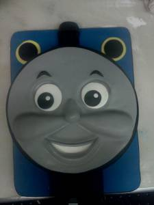 Thomas the Train cake, kids cake, custom cake, cartoon cake, fondant cake, birthday cake, denver, colorado