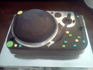 Turntable cake, dj cake, custom cake, fondant cake, custom cake, birthday cake, denver, colorado