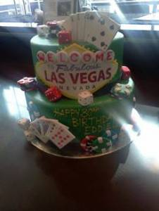 Las Vegas, gambling, birthday cake, custom cake, fondant cake, denver, colorado, gambling