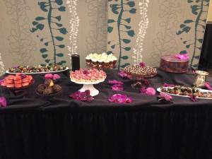 Dessert table, dessert buffet denver, The Magnolia Hotel Denver Colorado, custom cake Denver, desserts Denver