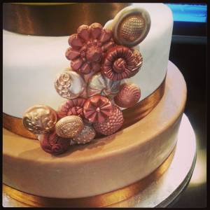 Wedding cake, tiered cake, fondant cake, custom cake, gold cake, copper, silver, denver, colorado